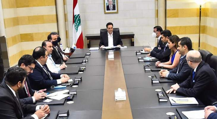 دياب استقبل الوفد العراقي واطلع منهم على أجواء الاجتماعات التي عقدوها