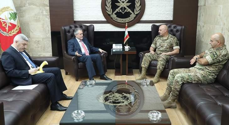 قائد الجيش استقبل السفير السوري ووفدا أميركيا ووفدا من الجامعة الإسلامية