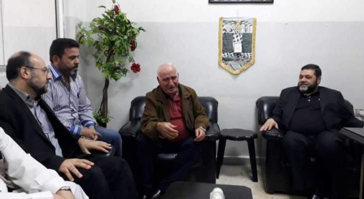 وفد قيادي من حماس يتفقد مخيم المية والمية ويلتقي ابو عرب وسليمان وحمود