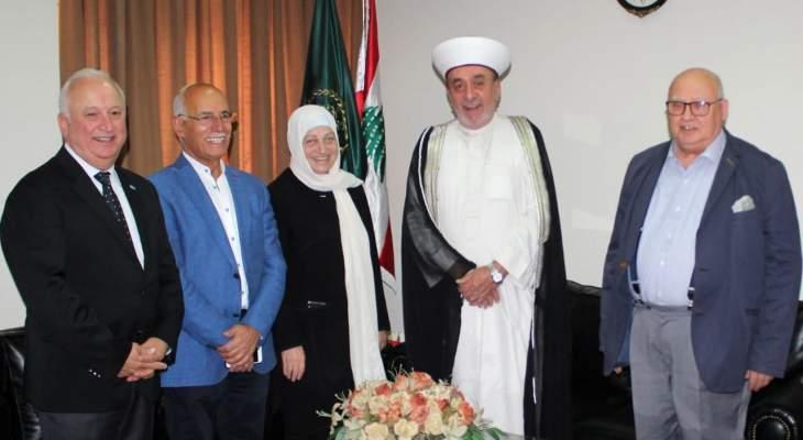 الحريري زارت افتاء صيدا تحضيرا لأنشطة إحتفالية ذكرى المولد النبوي