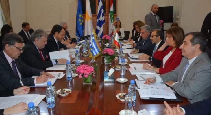 الشرق الاوسط: بعد اجتماع بيروت قمة ثلاثية لبنانية- قبرصية- يونانية ستعقد في قبرص