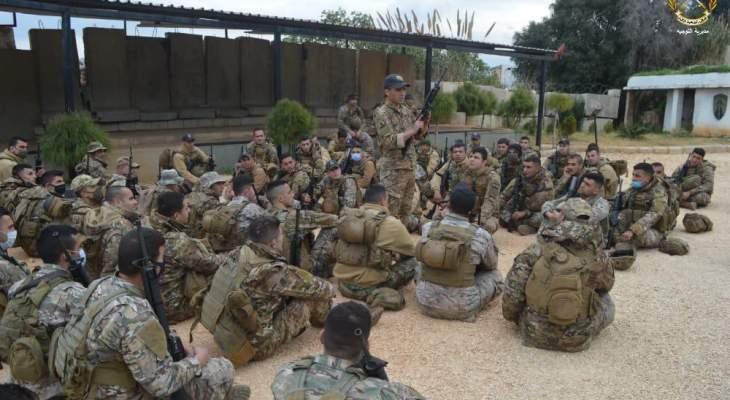 الجيش: دورة تدريبية لعناصر من فوج التدخل الأول بإشراف فريق تدريب أميركي