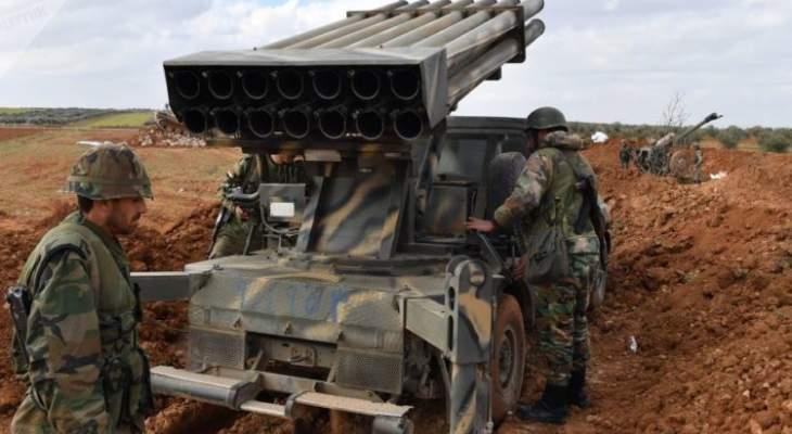 المرصد السوري: قوات النظام السوري جددت قصفها الصاروخي بريف إدلب الجنوبي