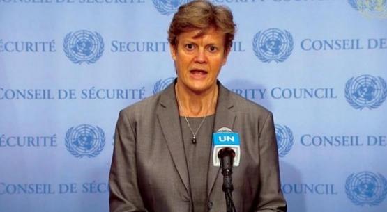 """المندوبة البريطانية بمجلس الأمن: نأمل أن تلتزم """"طالبان"""" بالتعهدات التي قطعتها على نفسها"""