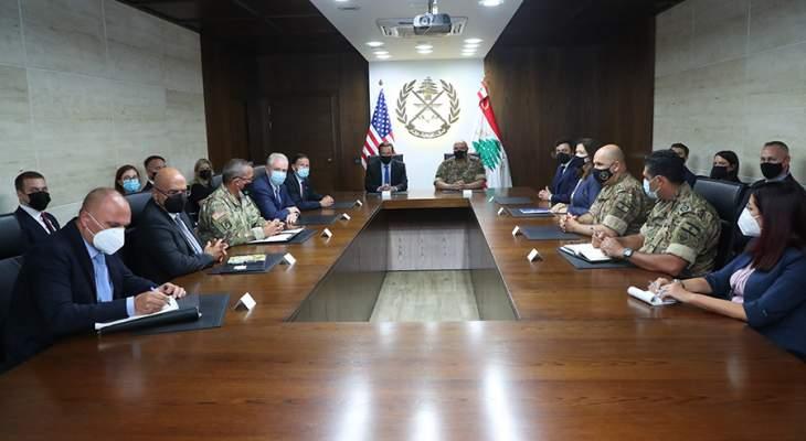 قائد الجيش التقى وفداً من الكونغرس الأميركي وبحث معه بسبل دعم الجيش