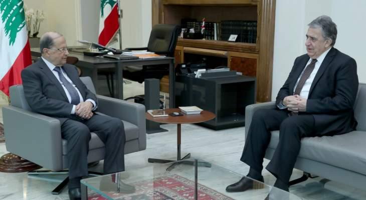الرئيس عون عرض التطورات المالية والاقتصادية  مع ناجي البستاني