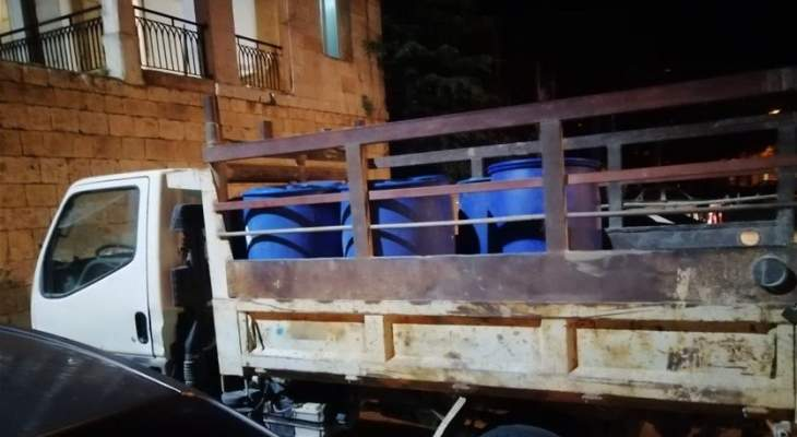 مكتب مرجعيون وحاصبيا بأمن الدولة أحبط عملية تهريب بنزين إلى سوريا