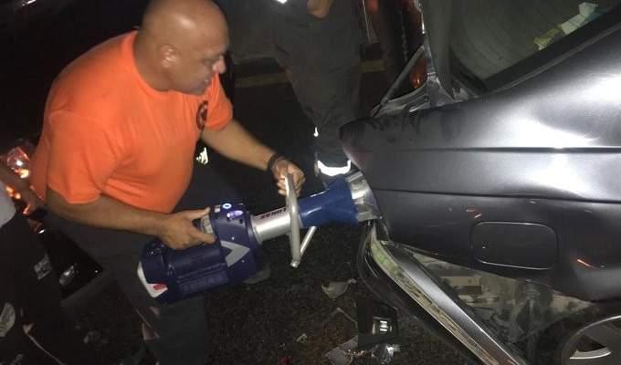 الدفاع الدني: ثلاثة جرحى نتيجة حادث سير في عاليه