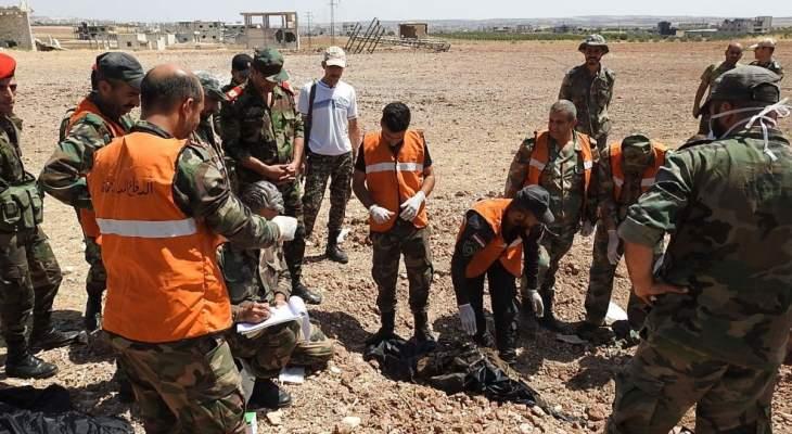 الجيش السوري يستعيد جثامين 17 جنديا قضوا دفاعا عن خان شيخون منذ سنوات
