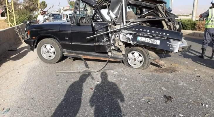 النشرة: ثلاث جرحى في حادث سير على طريق عام السفري ببعلبك