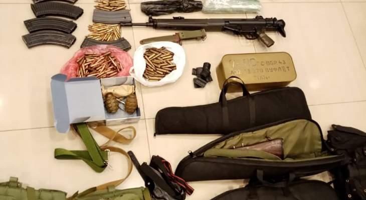 الجيش: توقيف مطلوبين في تعلبايا وضبط كمية من الأسلحة والذخائر بحوزتهما