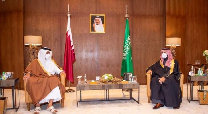 بن سلمان التقى أمير قطر وبحث معه العلاقات الثنائية وسبل تعزيز العمل الخليجي المشترك
