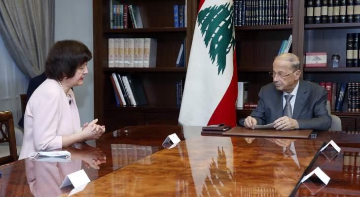 الرئيس عون:لبنان سيبدأ التفاوض مع صندوق النقد الدولي بهدف إيجاد حلول للأوضاع الاقتصادية