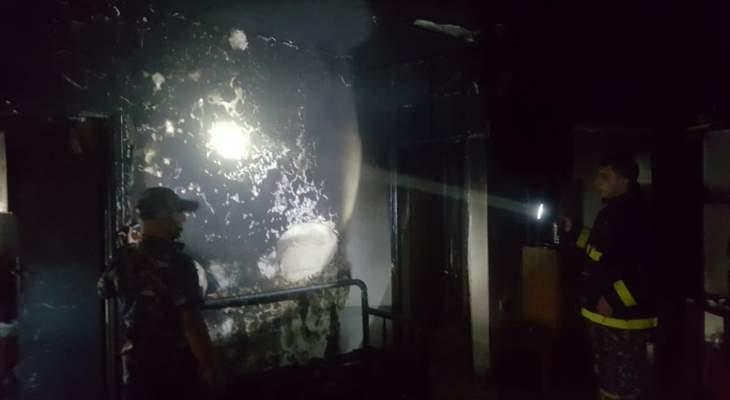 النشرة: اخماد حريق اندلع في أحد المنازل بصيدا والاضرار مادية