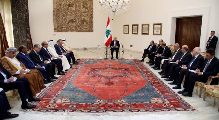 النشرة: الرئيس عون تمنى على الدول مساعدة لبنان وشرح اضرار النزوح