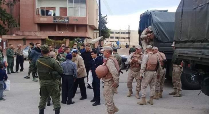 الجيش السوري سيفتح غدا معابر انسانية في ميزنار ومجيرز لعودة المدنيين