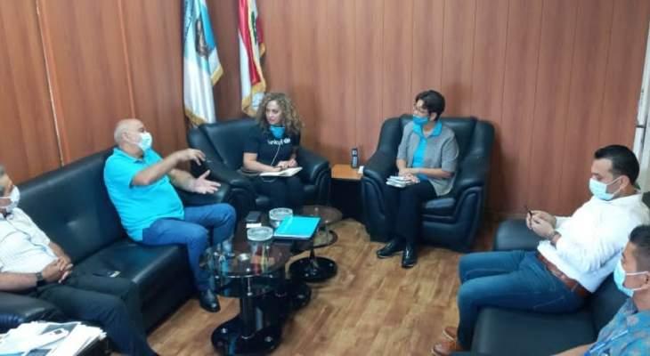 ممثلة اليونيسيف التقت دبوق وتفقدت مركز الحجر الصحي في مستشفى قانا الحكومي