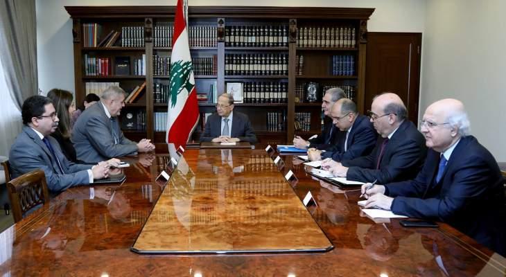 الرئيس عون عرض مع كوبيتش للتحضيرات لمؤتمر باريس لمجموعة الدعم الدولية من أجل لبنان