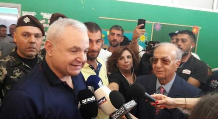 ميشال والياس المر يدليان بصوتهما في الانتخابات النيابية