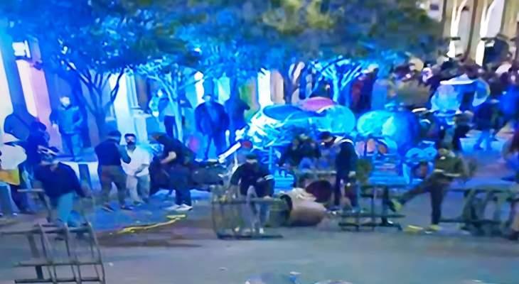 القوى الأمنية ألقت القبض على عدد من المتظاهرين من محيط مجلس النواب