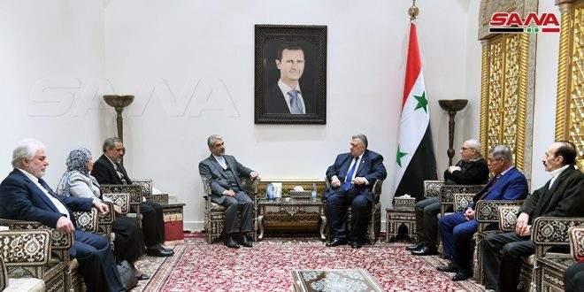 رئيس مجلس الشعب السوري التقى سفير إيران بدمشق: نؤكد على متانة علاقة البلدين