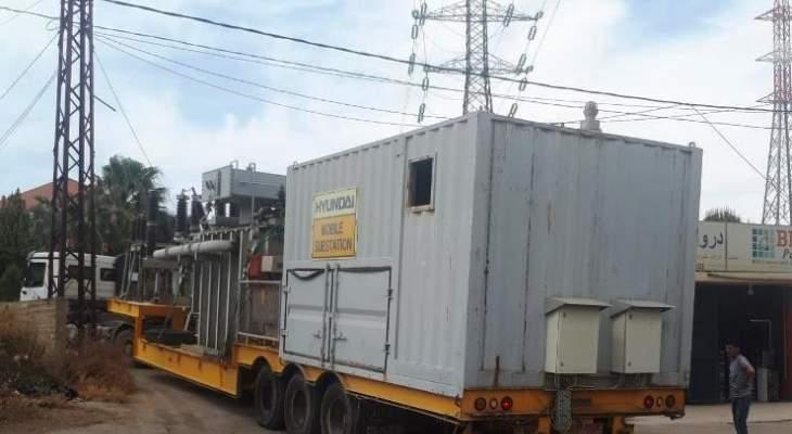وصول محطة كهرباء نقالة بقدرة 20 ميغاواط إلى الهرمل