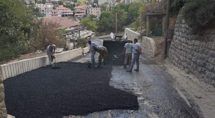 بلدية حاصبيا اختتمت مشروع تعبيد الطريق الرئيسي الذي يربطها بجاراتها