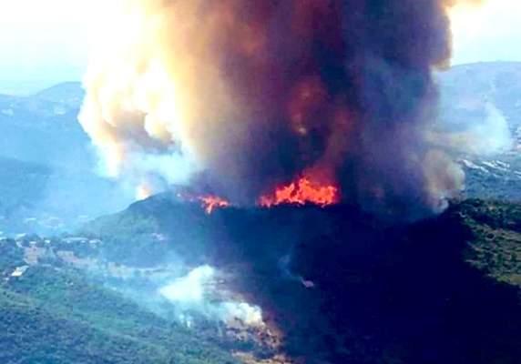 الصليب الأحمر: إخلاء 17 مواطنا ونقل 2 الى المستشفى نتيجة حريق القبيات