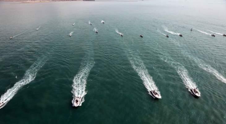 الحرس الثوري اطلق خلال منوراته صواريخ بالستية تجاه أهداف بحرية في مياه الخليج