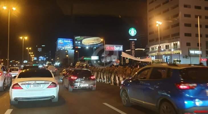 محتجون حاولوا قطع طريق جل الديب والجيش منعهم