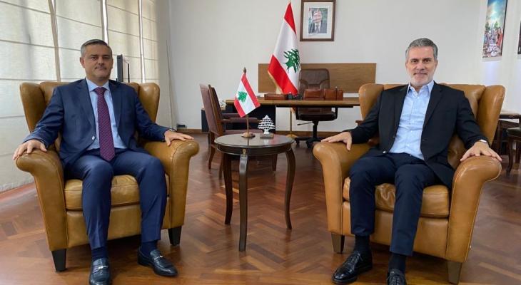 وزير السياحة التقى رئيس المطار وبحث معه بعدة مواضيع