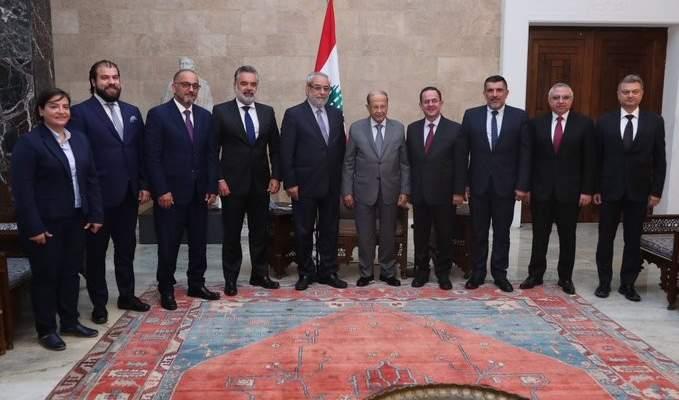 """الرئيس عون التقى وفدا من """"الطاشناق"""" شكره على مواقفه الاقتصادية والسياسية"""