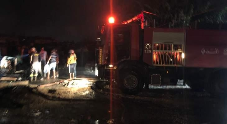 إندلاع حريق كبير في أحد أحراج غزير وعناصر من الدفاع المدني تعمل على إخماده