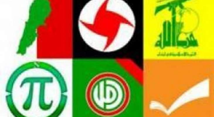 لقاء الاحزاب الوطنية: تحرير فلسطين بات أملًا واقعيًا بفعل انتصارات قوى المقاومة