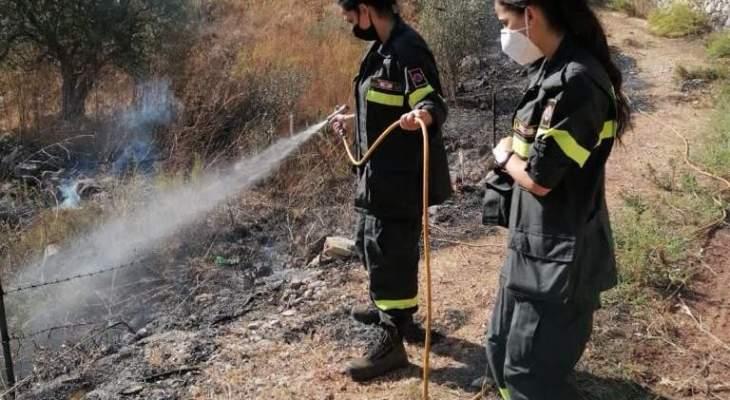 النشرة: عناصر من الدفاع المدني تمكنوا من اخماد حريق في خراج بلدة الماري