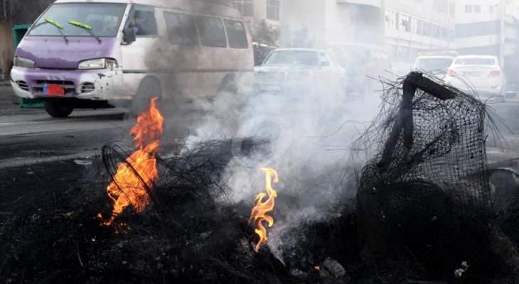إعادة فتح طريق الشويفات قرب بنك بيبلوس وحركة المرور كثيفة