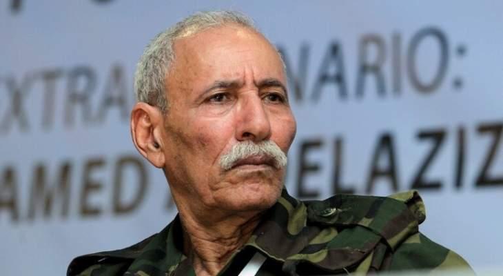 متحدث بسام البوليساريو: زعيمنا غادر المستشفى الإسباني وسيعود للجزائر