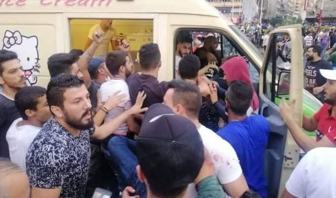 إحراق وتكسير كراج مصباح الاحدب في طرابلس اثر حادثة اطلاق النار