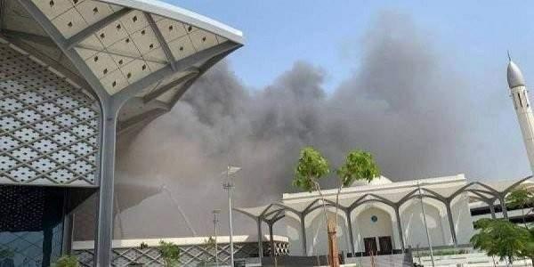 حريق اندلع في سقف محطة قطار الحرمين بجدة دون تسجيل إصابات حتى الآن