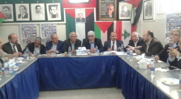 هيئة التنسيق اللبناني الفلسطيني تدعو لانهاء حالة الانقسام الفلسطينية