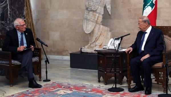 الرئيس عون بحث مع بوريل في الظروف الصعبة التي يمر بها لبنان