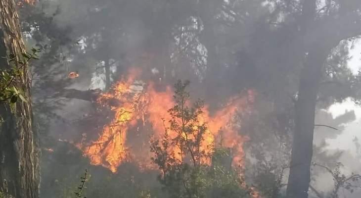 اخماد 3 حرائق في بترومين وكفرقاهل في الكورة