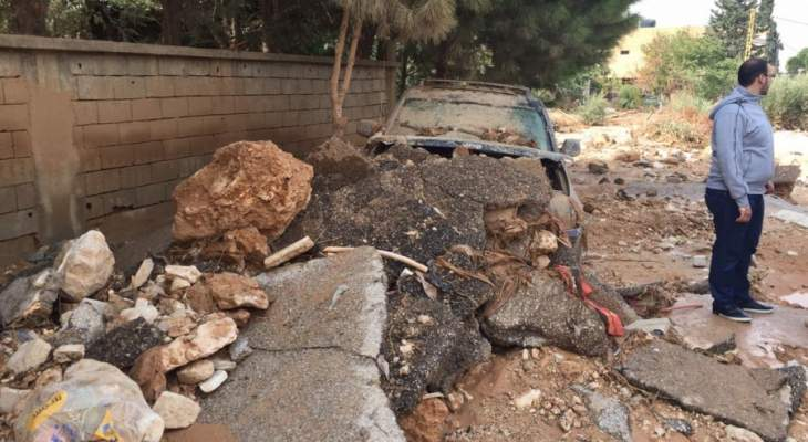 النشرة: السيول اجتاحت ثانوية بلدة اللبوة في البقاع الشمالي