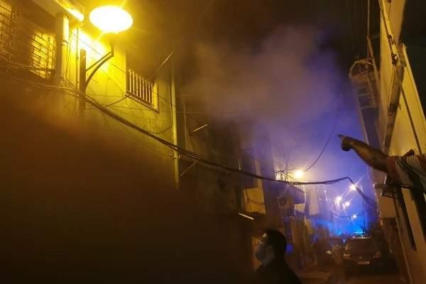 حريق في منطقة الأشرفية كرم الزيتون وفوج اطفاء بيروت يعمل على اخماده