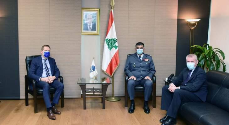 اللواء عثمان بحث مع وفد من سفارة الاتحاد الأوروبي في لبنان زيادة التعاون والتنسيق