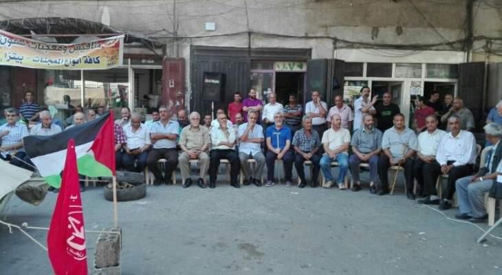 لقاء لبناني فلسطيني في البداوي رفضا لصفقة القرن