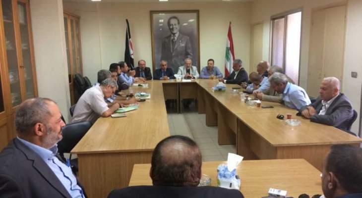 إنتخاب منسق ومقرر للقاء الأحزاب والقوى والشخصيات الوطنية اللبنانية