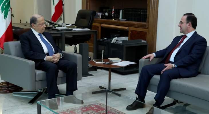 الرئيس عون التقى كيدانيان وعرض معه للأوضاع الراهنة في البلاد