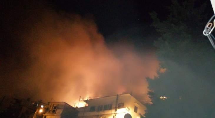 إندلاع  حريق كبير في جبل مشغرة طال المنازل ومناشدات للمساعدة