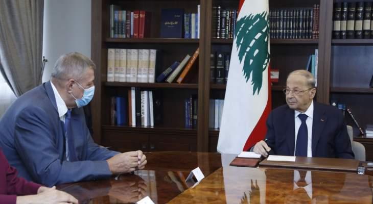 الرئيس عون تبلغ من كوبيتش ان مشاورات التمديد لليونيفيل ايجابية
